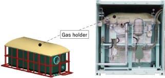 ガスホルダー一体型